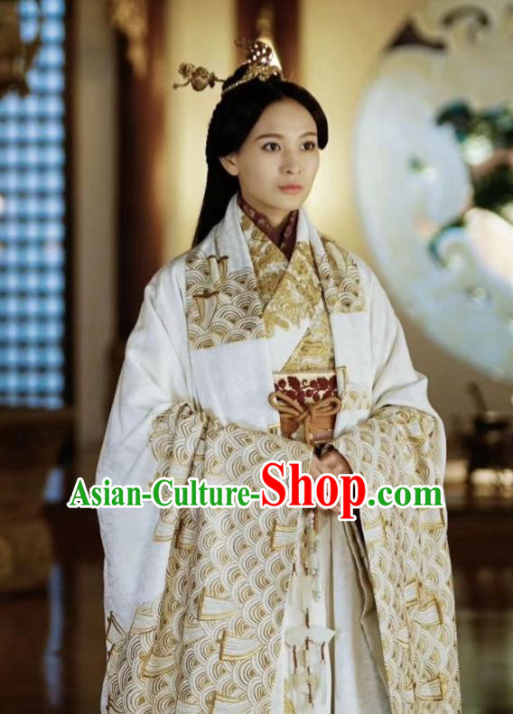 Chinese Ancient Drama The Lengend of Haolan Warring States Period Princess Historical Costume and Headpiece for Women
