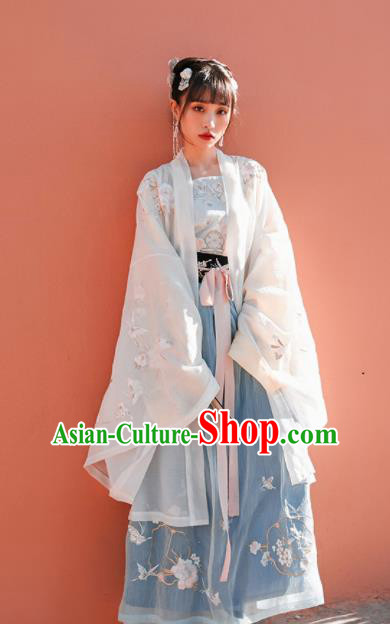 Chinese Traditional Hanfu Dress Ancient Tang Dynasty Imperial Consort Embroidered Costume for Women