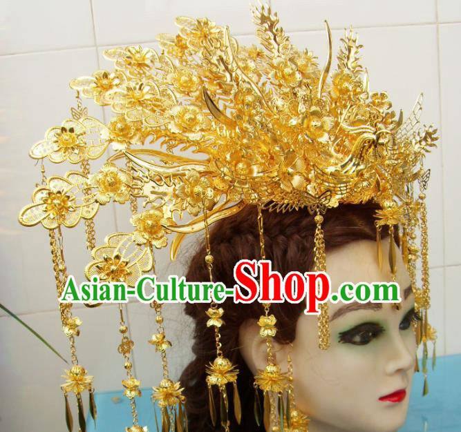 Chinese Traditional Goddess Phoenix Coronet Hairpins Ancient Queen Hair Accessories for Women