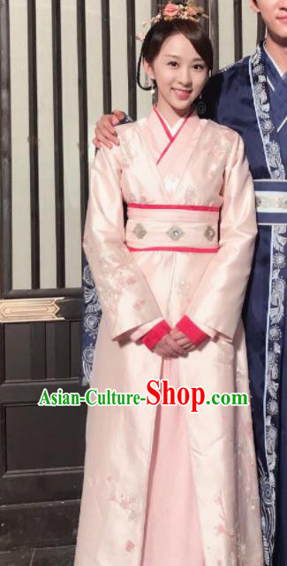 Chinese Ancient Court Maid Hanfu Dress Sui Dynasty Princess Historical Costume for Women