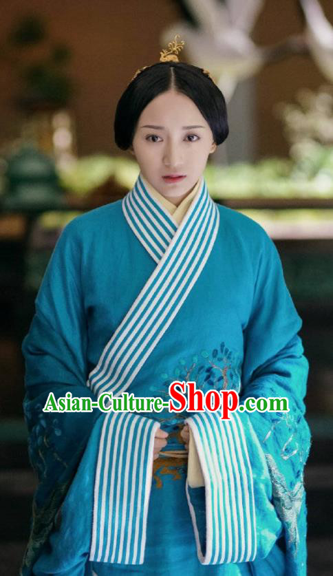Chinese Ancient Drama Hanfu Dress The Lengend Of Haolan Warring States Period Princess Embroidered Historical Costume for Women