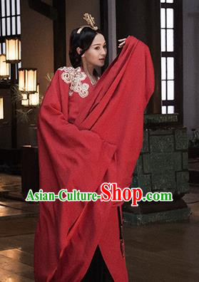 The Lengend Of Haolan Chinese Ancient Palace Lady Hanfu Dress Warring States Period Historical Costume and Headpiece for Women
