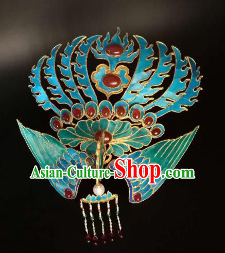Chinese Traditional Hair Accessories Ancient Handmade Hanfu Agate Phoenix Hairpins for Women