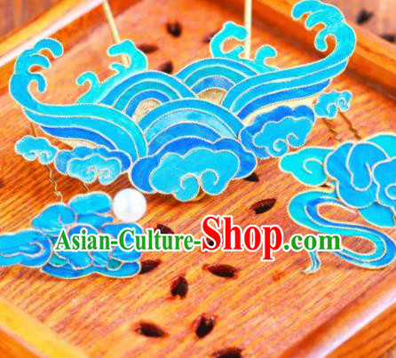 Chinese Traditional Hair Accessories Ancient Palace Handmade Hanfu Clouds Hairpins for Women