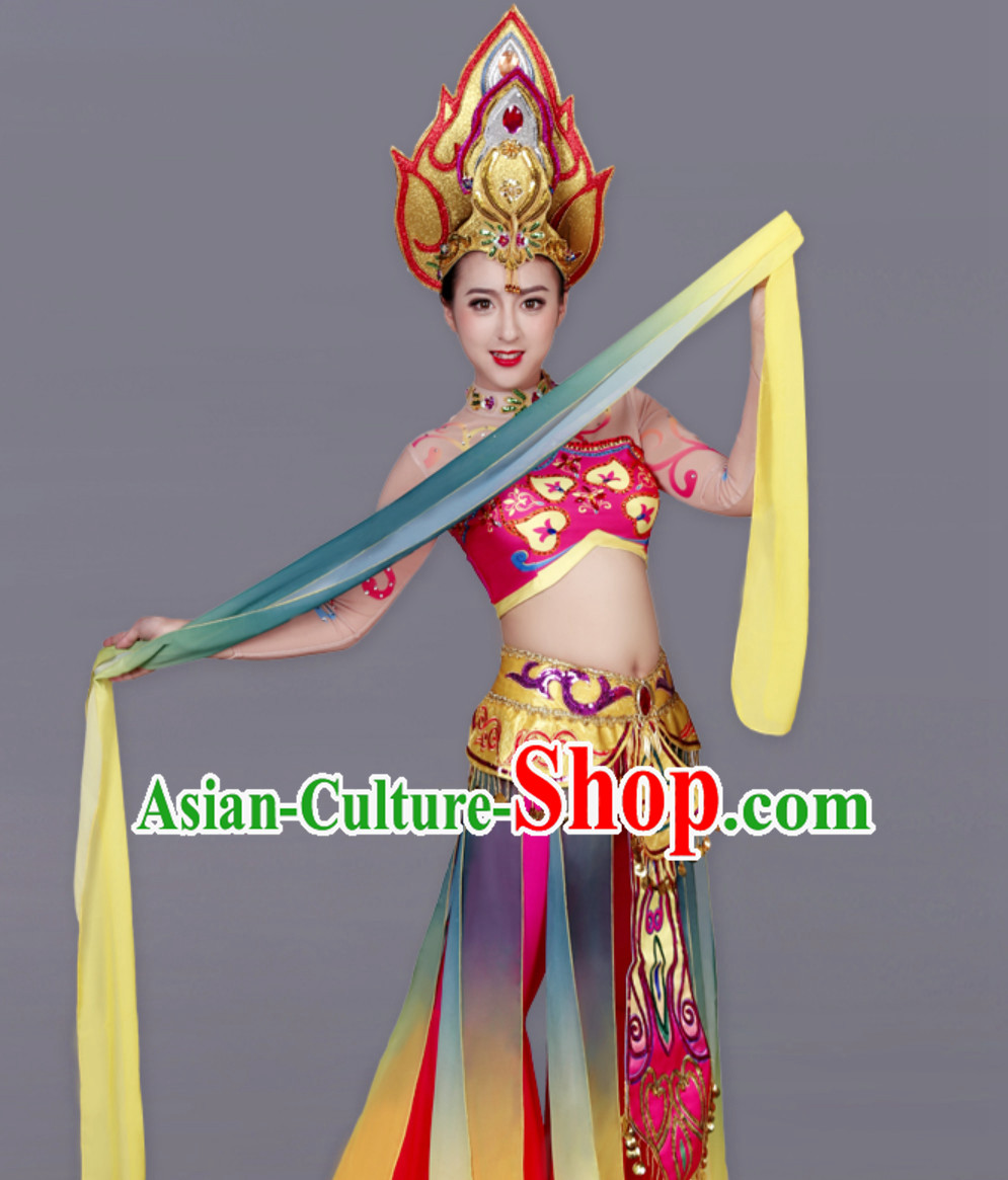 Traditional White Tara Deity Costumes and Accessories Complete Set