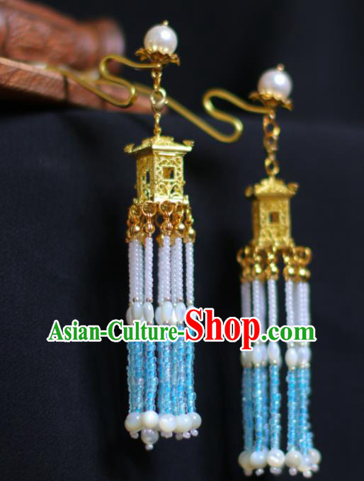 Traditional Chinese Hanfu Palace Tassel Hair Clip Hair Accessories Ancient Imperial Consort Hairpins for Women