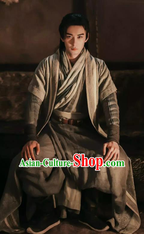 Chinese Ancient Drama Swordsman Hanfu Clothing Tang Dynasty Knight Historical Costume for Men