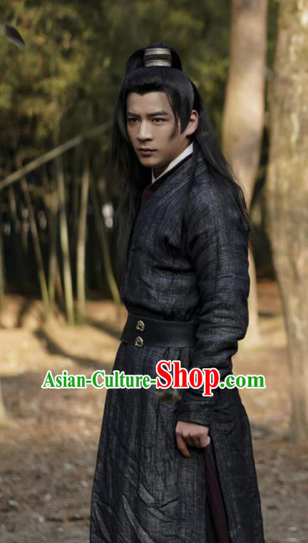 Chinese Ancient Assassin Hanfu Clothing Tang Dynasty Swordsman Historical Costume for Men