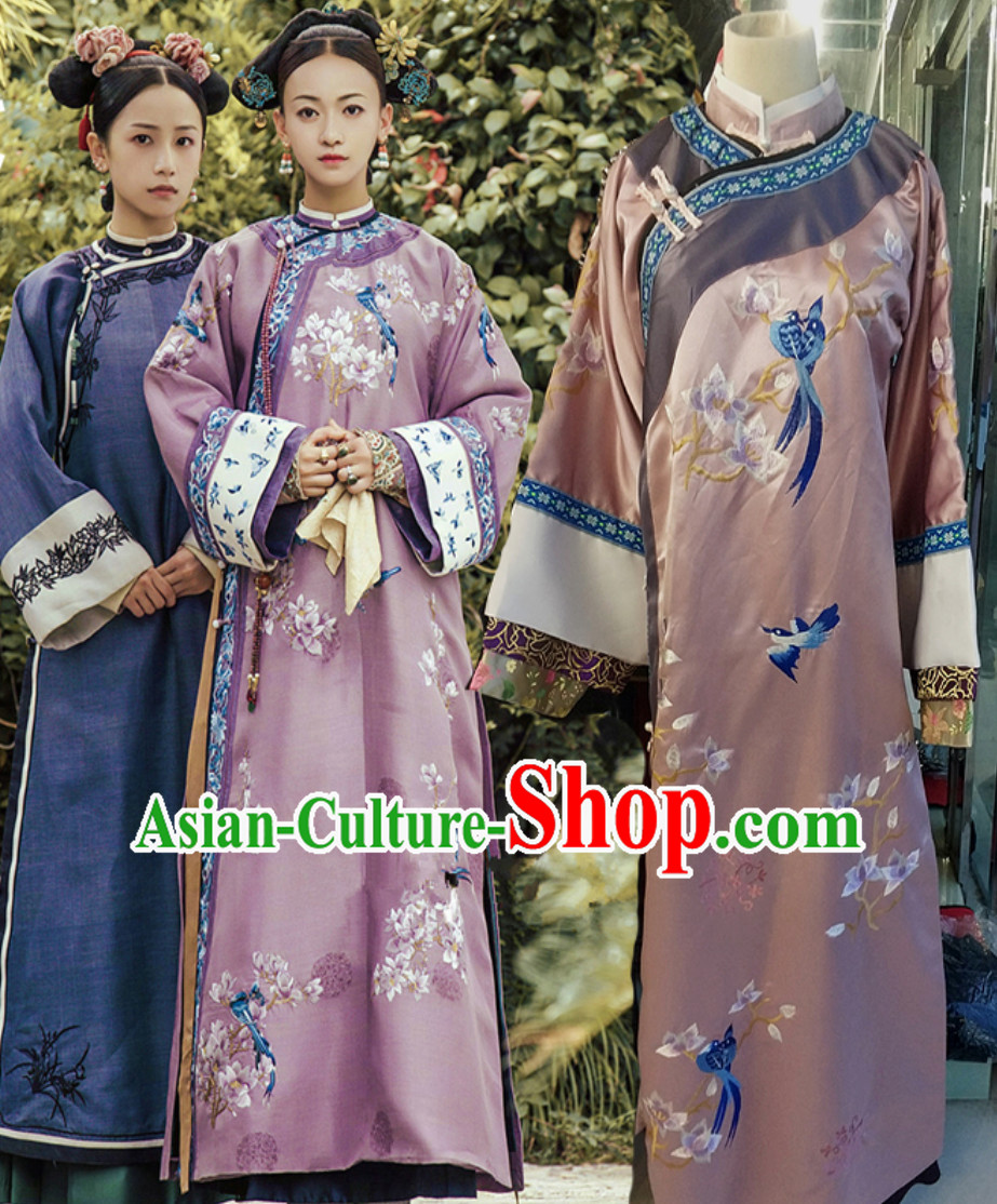 Chinese Traditional Manchu Imperial Qing Dynasty Empress Costumes Clothing for Women