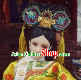 Chinese Ancient Qing Dynasty Manchu Imperial Consort Headwear Traditional Palace Hair Accessories for Women