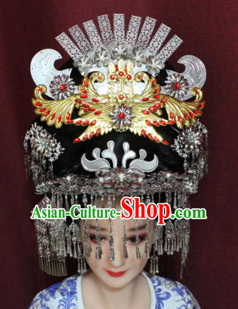 Chinese Ancient Queen Phoenix Coronet Hairpins Traditional Palace Wedding Hair Accessories for Women