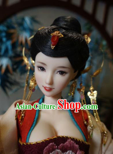 Chinese Ancient Tang Dynasty Imperial Consort Headwear Phoenix Coronet Traditional Palace Hair Accessories for Women
