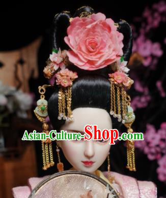 Chinese Ancient Tang Dynasty Empress Headwear Hairpins Traditional Palace Hair Accessories for Women