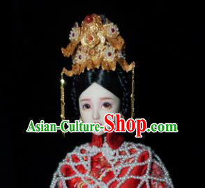 Chinese Ancient Imperial Consort Wedding Headwear Traditional Qing Dynasty Palace Manchu Hair Accessories for Women