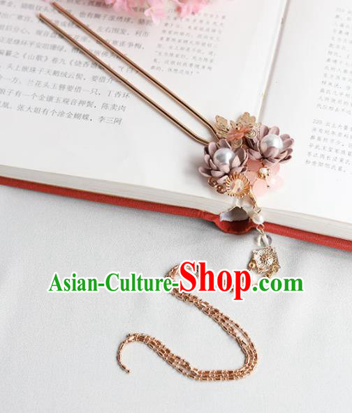 Chinese Ancient Princess Hairpins Tassel Step Shake Traditional Hanfu Hair Accessories for Women