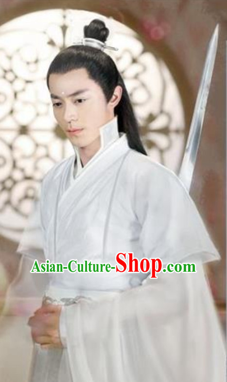 Chinese Ancient Style Long Wig for Men