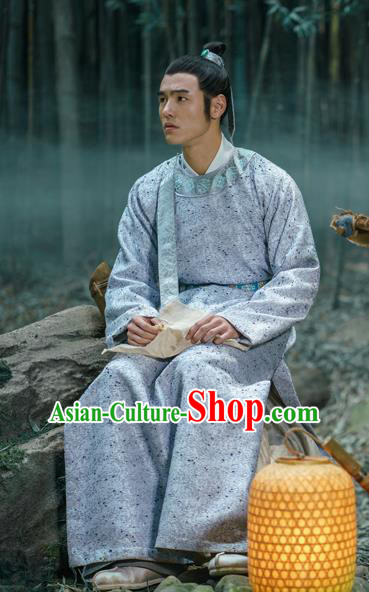 Chinese Film The Knight of Shadows Ancient Ming Dynasty Scholar Ning Caichen Historical Costume for Men