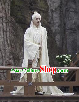 Drama Madam White Snake Chinese Ancient Taoist Priest Swordsman Historical Costume for Men