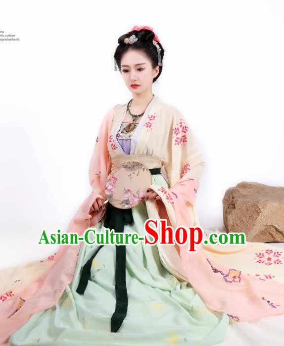 Chinese Ancient Peri Hanfu Dress Traditional Tang Dynasty Imperial Consort Historical Costume for Women