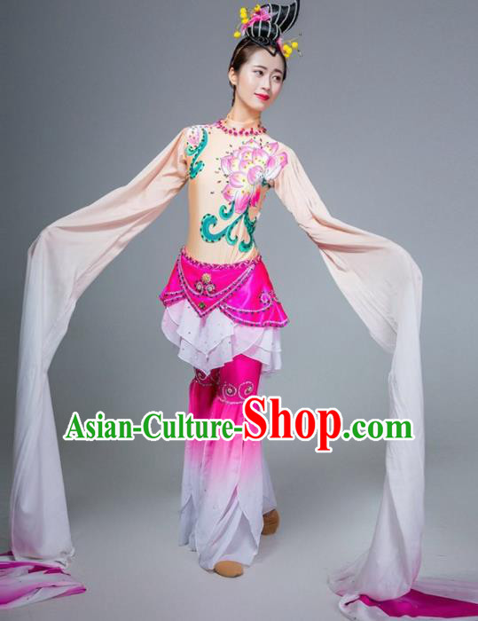 Chinese Classical Dance Stage Performance Costume Traditional Water Sleeve Dance Dress for Women
