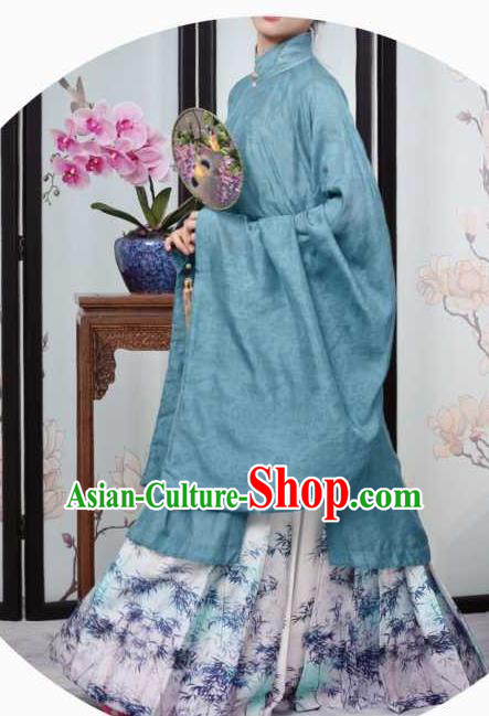 Traditional Chinese Ming Dynasty Historical Costume Ancient Dowager Embroidered Dress for Women