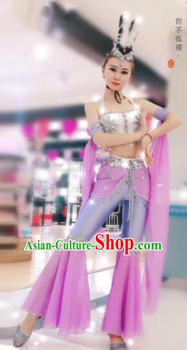 Chinese Traditional Classical Dance Hanfu Dress Dunhuang Flying Apsaras Stage Performance Costume for Women