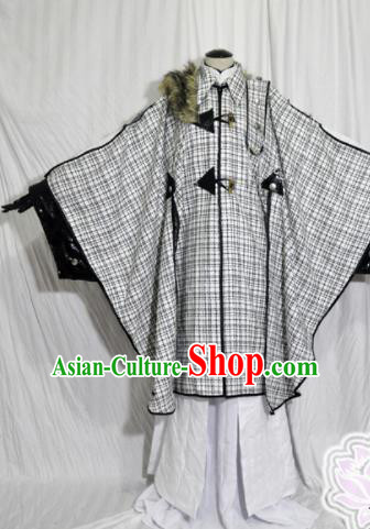 Traditional Chinese Female Knight Hanfu Dress Ancient Swordswoman Embroidered Costume for Women