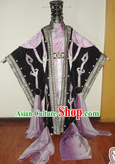Traditional Chinese Cosplay King Swordsman Pink Hanfu Clothing Ancient Royal Highness Embroidered Costume for Men