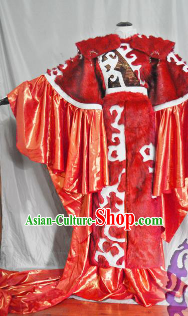 Traditional Chinese Han Dynasty Wedding Red Hanfu Dress Ancient Swordswoman Embroidered Costume for Women