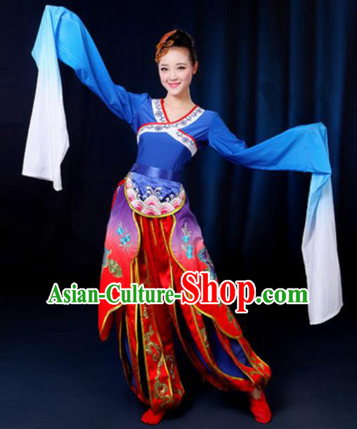 Traditional Chinese Yangko Group Dance Clothing Folk Dance Drum Dance Stage Performance Costume for Women