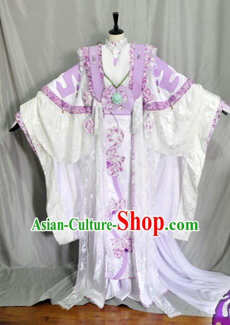 Traditional Chinese Cosplay Palace Queen Hanfu Dress Ancient Swordswoman Embroidered Costume for Women