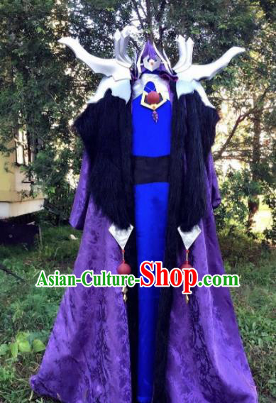 Traditional Chinese Cosplay Royal Highness Hanfu Clothing Ancient Swordsman Embroidered Costume for Men