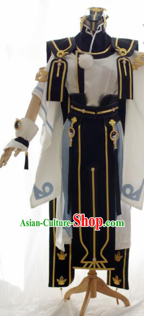 Traditional Chinese Cosplay Kawaler Taoist Priest Clothing Ancient Swordsman Embroidered Costume for Men