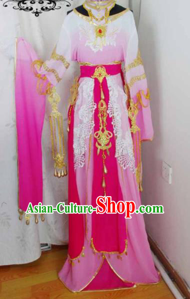 Traditional Chinese Cosplay Swordswoman Pink Hanfu Dress Ancient Court Princess Embroidered Costume for Women