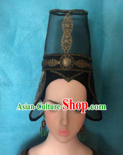 Traditional Chinese Qin Dynasty Prince Hairdo Crown Hair Accessories Ancient Nobility Childe Hat for Men