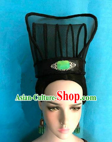 Traditional Chinese Qin Dynasty Minister Hairdo Crown Hair Accessories Ancient Nobility Childe Hat for Men
