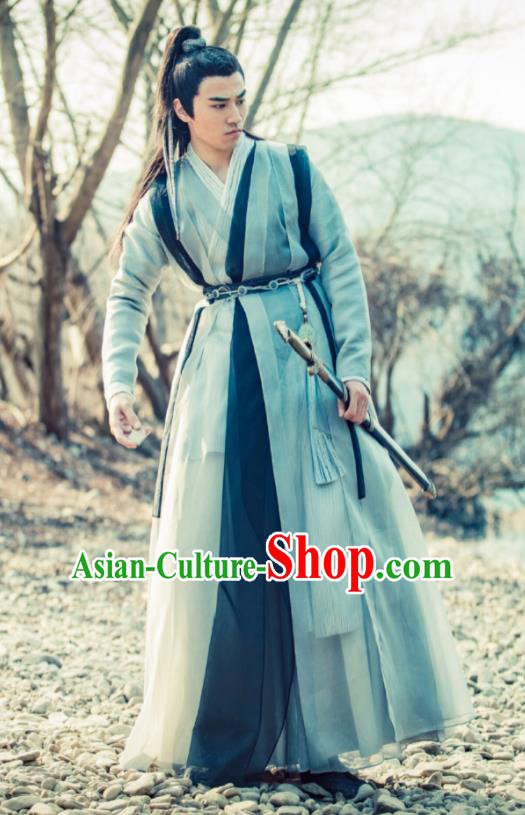 Heavenly Sword Dragon Slaying Saber Chinese Drama Ancient Swordsman Song Qingshu Historical Costume for Men