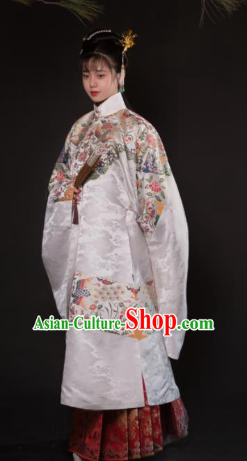 Chinese Ancient Ming Dynasty Imperial Mandate Madame Hanfu Dress Traditional Court Princess Embroidered Historical Costume for Women