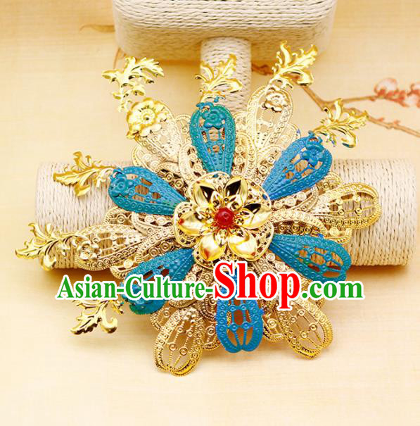 Traditional Chinese Handmade Hairpins Hair Claw Ancient Qing Dynasty Princess Hair Accessories for Women