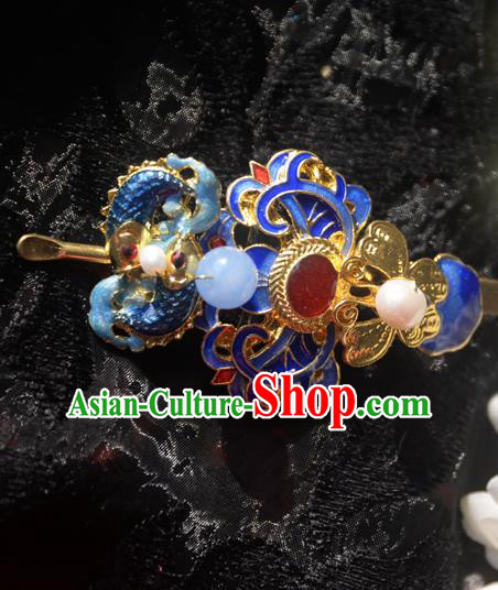 Traditional Chinese Handmade Queen Cloisonne Agate Hairpins Ancient Imperial Empress Hair Accessories for Women