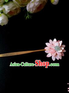 Chinese Handmade Hanfu Palace Lotus Hair Clip Hairpins Traditional Ancient Princess Hair Accessories for Women