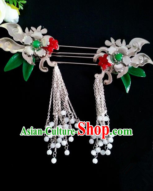 Chinese Handmade Hanfu Palace Hairpins Tassel Hair Clip Traditional Ancient Princess Hair Accessories for Women