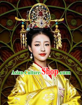 Traditional Chinese Handmade Hanfu Hairpins Phoenix Coronet Ancient Imperial Consort Hair Accessories for Women