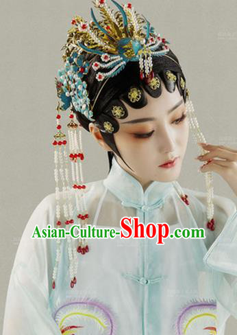 Handmade Chinese Traditional Hanfu Hairpins Phoenix Coronet Ancient Ming Dynasty Imperial Consort Hair Accessories for Women