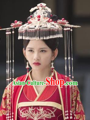 Chinese Handmade Hanfu Phoenix Coronet Tang Dynasty Hairpins Traditional Ancient Imperial Consort Hair Accessories for Women