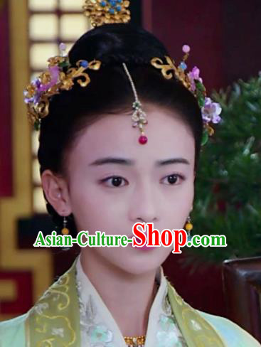 Chinese Handmade Hanfu Qin Dynasty Palace Hairpins Traditional Ancient Imperial Consort Hair Accessories for Women