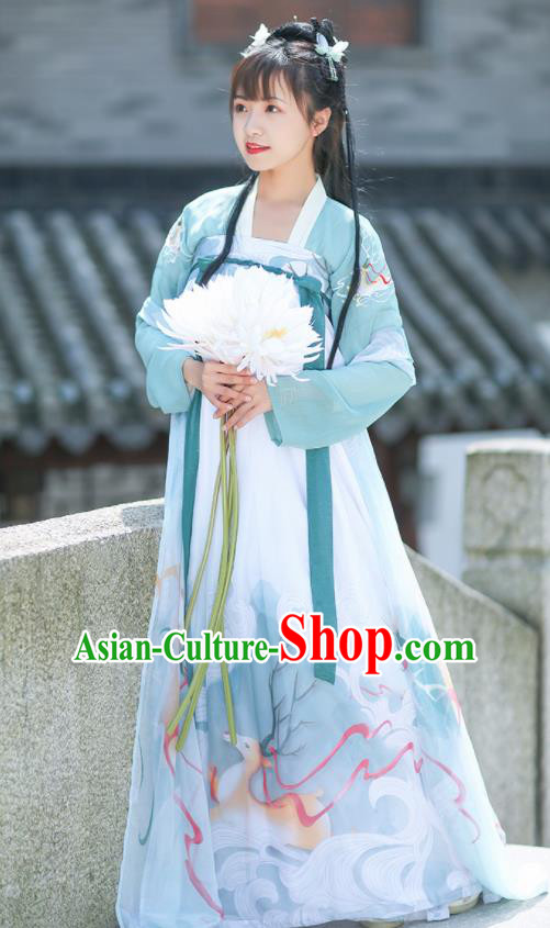 Chinese Tang Dynasty Imperial Princess Embroidered Hanfu Dress Traditional Ancient Court Lady Historical Costume for Women