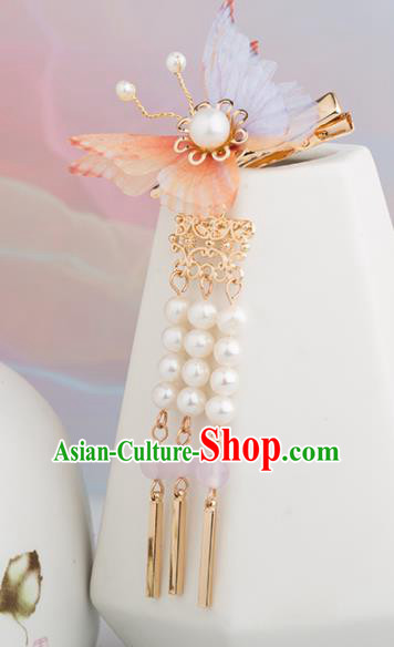 Chinese Handmade Silk Butterfly Hair Claws Ancient Princess Hair Accessories Headwear for Women