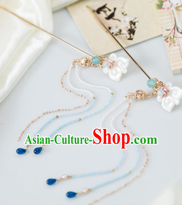Chinese Handmade Hanfu Shell Hair Clip Hairpins Ancient Princess Hair Accessories Headwear for Women