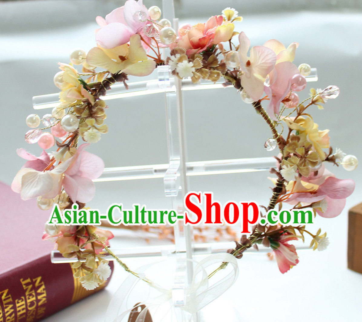 Beautiful Handmade Flower Head Wear Garland Hair Decoration for Women
